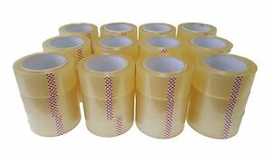 36 Rolls Carton Sealing Clear Packing shipping box Tape 2 5 Mil 2 X 110 Yards