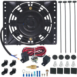 6 Inch Electric Trans Oil Cooling Fan 3 8 Npt Ground ing Thermostat Switch Kit