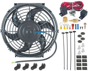 10 Inch Electric Fan 12v Radiator Cooling 3 8 Npt Ground Thermostat Switch Kit
