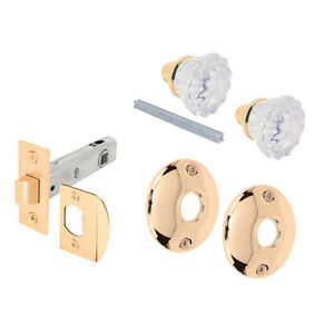 Defender Security Passage Door Latch Glass Knob Set With Latch Bolt