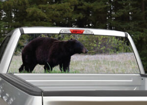 Black Bear Walking Hunting Rear Window Decal Graphic Truck Suv