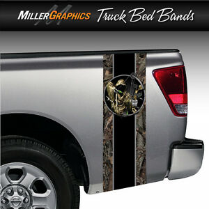 Bow Hunter Grim Reaper Camo Truck Bed Band Stripe Decal Graphic Sticker Kit