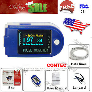 Usa Oled Pulse Oximeter Oxymeter Fingertip Oxygen Blood Monitor Spo2 sw usb fda