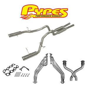 2011 2014 Mustang Gt 5 0 Pypes Long Tube Headers X pipe Cats 3 Exhaust System