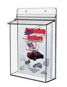 Qty 4 Outdoor 8 5 X 11 Brochure Flyer Holder Catalogs Magazines Real Estate