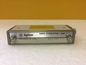 Agilent 8495g 002 011 Dc To 4 Ghz 0 To 70 Db 5 Vdc Sma f Step Attenuator
