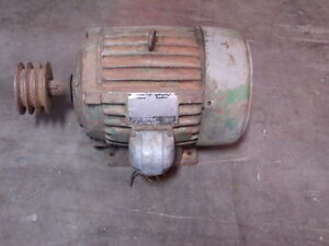 Us Electric Enclosed 5 Hp Motor Model 6 1194 00 167 W Pulley
