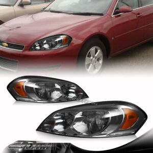 Smoke Lens Headlights Lamps For 2006 2013 Chevy Impala 2006 2007 Monte Carlo