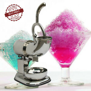 400lbs Ice Shaver Machine Sno Snow Cone Maker Shaved Icee Electric Crusher Usa