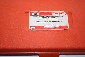 T b Thomas Betts Wt 740 Wt740 Interchangeable Die Frame Crimper With Dies