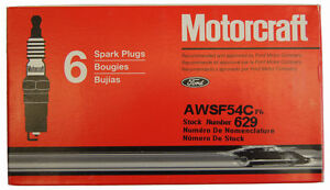 Motorcraft Spark Plugs Stock No 629 Awsf54c Pack Of 6 New