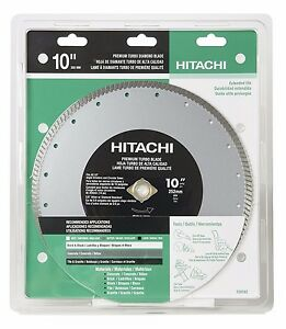 New Hitachi 728762 10 inch Turbo Diamond Saw Blade Concrete And Masonry Dry Cut