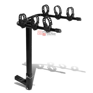 2 Hitch Receiver Mount Rear Trailer Universal Folding Bike Bicycle Rack Carrier