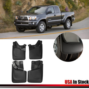 4pc Front Rear Mud Flaps Mud Guards Splash Flares Molded For Toyota Tacoma 16 17