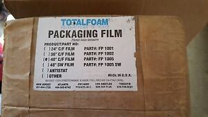 Total Foam In Place Packaging 48 Centerfold Cf White 96 Fp1005 Polyair 75 Nib