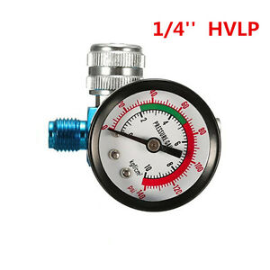 Digital Spray Paint Gun Regulator Air Pressure Gauge 1 4inch Hvlp Compressor Kit