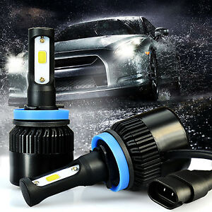 Jdm Astar 2x G1 Cob H11 6500k Xenon White Led Headlights Extremely Bright Bulbs