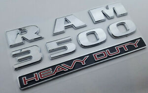Uv Abs Argent Chrome Dodge Ram 3500 Heavy Duty Emblem Badge Trunk Decal Sticker