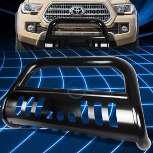 For 16 17 Toyota Tacoma 3 Black Bull Bar Push Front Bumper Grille Guard W skid