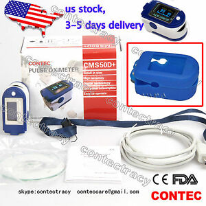 Usa Oled Pulse Oximeter Oxymeter Fingertip Oxygen Blood Monitor Spo2 sw softcase