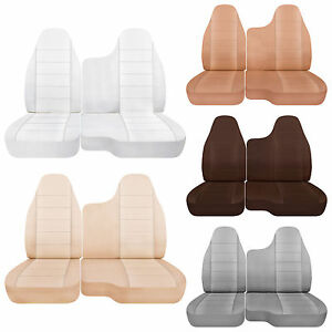 98 03 Ford Ranger Cotton Car Seat Covers 60 40 Bench 35 Driver 60 Top Bottom