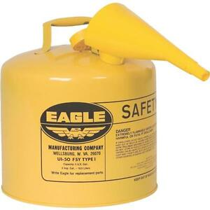 Eagle 5 Gal Type I Diesel Safety Fuel Gas Can Galvanized Osha Nfpa Approved