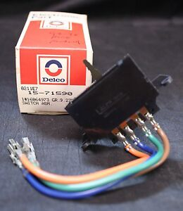 Vintage Nos Delco Blower Control Switch 16064973 1988 1996 Buick Pontiac 439