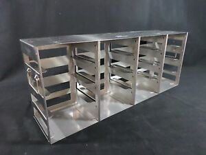 Nalgene Stainless Steel Ss 16 position 2 Cryogenic Cryobox Freezer Rack 5038