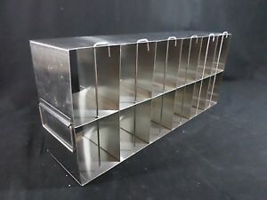 Usa Scientific Stainless Steel 12 section Multi Well Plate Upright Freezer Rack