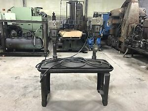 Delta Rockwell 2 Head Spindle Multi Drill Press Station Heavy Duty Table