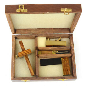 4 Pc Mini Woodworking Set Includes Plane Bevel Square And Marking Gauge 13301