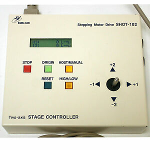 Sigma Koki Shot 102 2 Axis Stage Controller With Built in 5 phase Stepping Motor