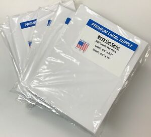 1000 Blockout 8 5 X 5 5 Half Sheet Shipping Labels cover Mistakes Underneath