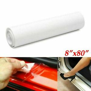 Clear Film Headlight Bumper Hood Door Sill Edge Paint Protection Vinyl 8 X80