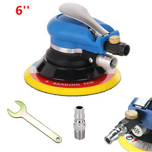 6 Air Random Orbital Sander Pneumatic Disc Polisher Car Body Orbit Da Sanding