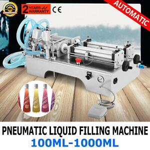 Two Heads Pneumatic Liquid Filling Machine 100 1000ml Silica Gel Pressure Filler
