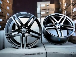 20 S65 Amg Style Black Machine Wheels Rims Fits Mercedes Benz S430 S500 S550