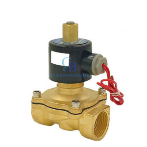 G3 4 N o 12v Dc Brass Electric Solenoid Valve Water Gas Air Normally Open Type