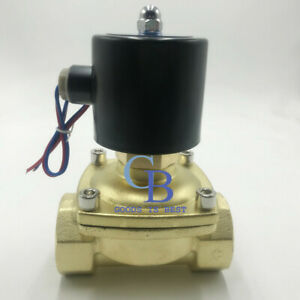 G1 1 2 N o 220v Ac Brass Electric Solenoid Valve Water Gas Normally Open Type