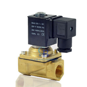 Ac220v G1 2 Brass Electric Solenoid Valve Switch Water Air Normally Closed