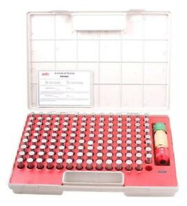 Pro series 125 Piece 625 750 Pin Gage Set With Certificate 4101 0044