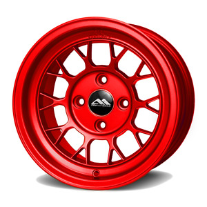 Abr Drag Racing Wheels 13x8 For Honda Civic Crx Acura Integra Mazda Miata Red