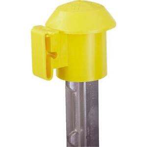 10 Pk Dare Slide On T post Top Cap Electric Fence Wire Insulator 10 Per Pk 2027