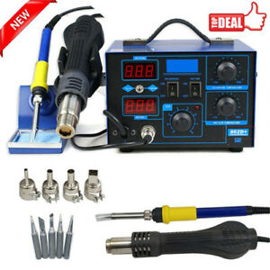 2in1 Soldering Rework Stations Smd Hot Air Iron Desoldering Welder Esd 862d S
