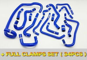 Silicone Full Ancillary Heater Hose Clamp Set Fit Skyline R32 Rb20det Gts t