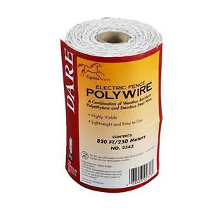 3 Pk Dare 820 Electric Fence 3 Steel Strand 110 Poly Wire 2343