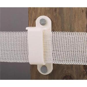 10 Pk Dare 1 1 2 Nail On Wood Post Electric Fence Tape Insulator 25 pk 2330 25w