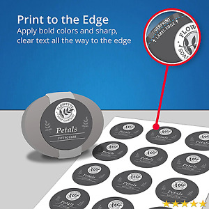 Avery Easy Peel Permanent Print to the edge Round Labels Laser inkjet 2 inch