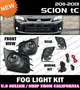complete Fog Light Kit For Scion 11 12 13 Tc w Switch wiring covers