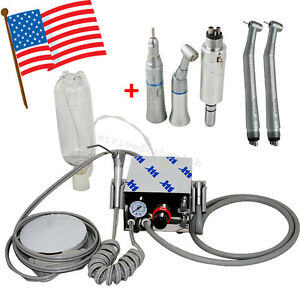 Dental Portable Air Turbine Unit Work W Compressor 4h High Low Speed Handpiece